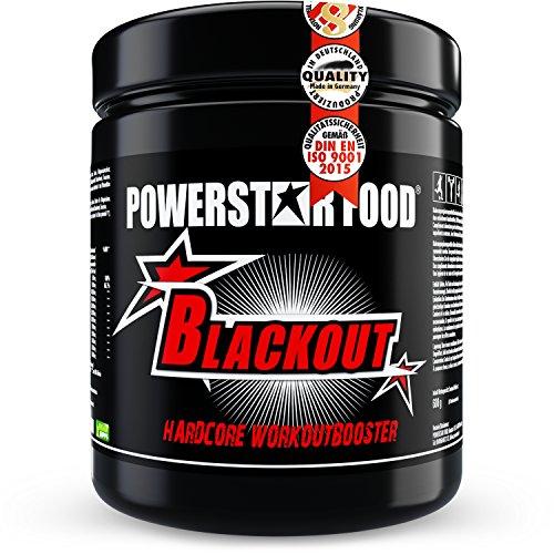 POWERSTAR FOOD Blackout Booster | 600g | Pre Workout Trainingsbooster | Deutsche Herstellung | Blue Raspberry