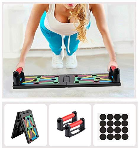 Surplex Faltbare 12-in-1 Push Up Rack Board System mit Handgriff Push-Up-Bracket Board Portable Multifunktionales Muskeltraining System für Home Fitness Workout Training Gym Übungsständer